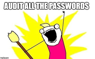 Audit All The Passwords Meme
